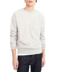 J.Crew | J.crew Textured Pique Fleece Sweatshirt | Lyst