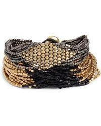 INK AND ALLOY - Ink + Alloy Beaded Bracelet - Lyst