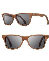 Shwood | 'canby' 54mm Wood Sunglasses - Walnut/ Grey | Lyst