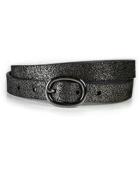PAIGE | Kelsey Metallic Suede Belt | Lyst