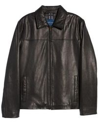 Cole Haan - Lambskin Leather Jacket - Lyst