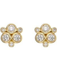 Temple St. Clair - 18k Yellow Gold Classic Trio Earrings With Diamonds - Lyst