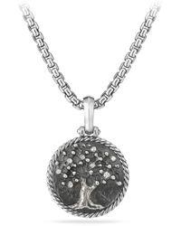 David Yurman - Tree Of Life Diamond Amulet - Lyst