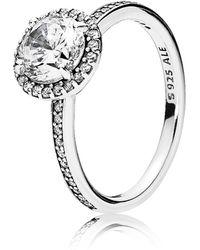 PANDORA - Classic Elegance Ring - Lyst