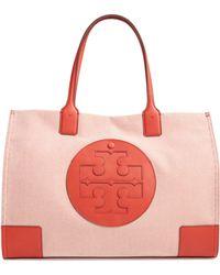 d549a0d00 Lyst - Tory Burch Ella Logo Tote Bag in Pink