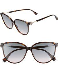 40409a20ae Lyst - Fendi Oversized Cat Eye Sunglasses in Blue