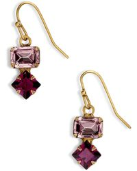 Sorrelli - Small Crystal Drop Earrings - Lyst