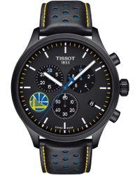 Tissot - Chrono Xl Nba Leather Strap Watch - Lyst