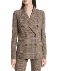 Tracy Reese - Trcay Reese Double Breasted Plaid Blazer - Lyst