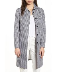 Anne Klein   New York Gingham Coat   Lyst