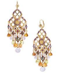 Gas Bijoux - Reine Semiprecious Stone Chandelier Earrings - Lyst