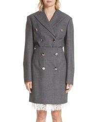 CALVIN KLEIN 205W39NYC - Curved Sleeve Wool Blazer - Lyst