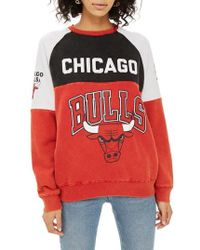 TOPSHOP - Bulls Colourblock Sweatshirt By - Lyst