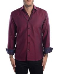 Bertigo - White Arrow Dobby Modern Fit Sport Shirt - Lyst