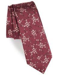 Paul Smith - Floral Silk Tie - Lyst