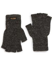 Filson - Fingerless Wool Blend Knit Gloves - Lyst