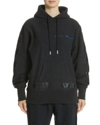 Off-White c/o Virgil Abloh - X Champion Pullover Hoodie - Lyst