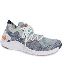 b37664c4f443 Lyst - Nike Free Tr Flyknit 3 Rise Training Shoe in White