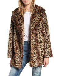 Heartloom - Mika Leopard Faux Fur Jacket - Lyst