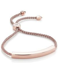 Monica Vinader - Engravable Large Linear Friendship Bracelet - Lyst