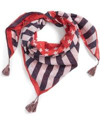 Steve Madden - American Flag Square Scarf - Lyst
