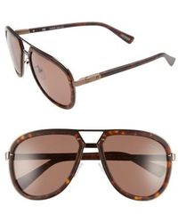Lanvin - Aviator Sunglasses - Dark Havana/ Brown - Lyst