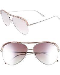 9a116671d4ed Gucci Aviator Sunglasses - Palladium/Pink Blue Mirror in Pink - Lyst