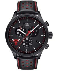 Tissot | Chrono Xl Nba Leather Strap Watch | Lyst