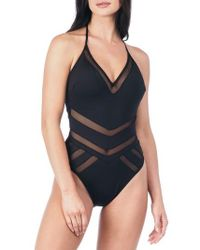 Kenneth Cole   Laundry By Shelli Segal Mesh One-piece Swimsuit   Lyst