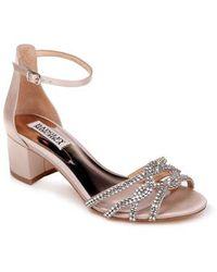 Badgley Mischka - Sonya Block Heel Sandal - Lyst