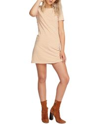 Volcom - Looking Out Stripe T-shirt Dress - Lyst