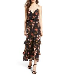 Lush - Tiered Maxi Dress - Lyst