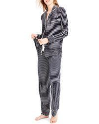 J.Crew - Dreamy Stripe Cotton Pajamas - Lyst