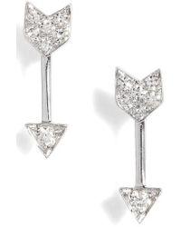 EF Collection - Diamond Arrow Stud Earrings - Lyst