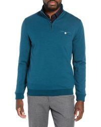 Ted Baker - Peper Trim Fit Half Zip Pullover - Lyst