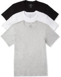 Calvin Klein | Cotton Crewneck T-shirt, (3-pack) | Lyst
