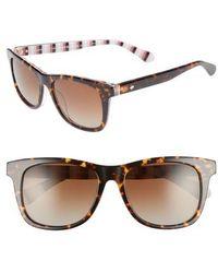 Kate Spade - Charmine 53mm Gradient Lens Sunglasses - Havana Pattern - Lyst