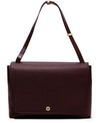 Dagne Dover - Simone Leather Satchel - Burgundy - Lyst