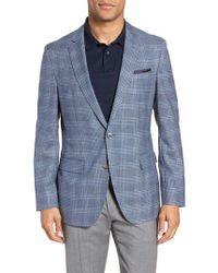 BOSS - Hartlay Trim Fit Plaid Wool Sport Coat - Lyst