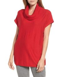 Vince Camuto - Short Sleeve Turtleneck Sweater - Lyst