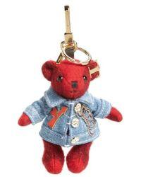 Burberry - Thomas Bear Cashmere Bag Charm - Lyst