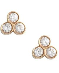 Zoe Chicco - Diamond Cluster Stud Earrings - Lyst