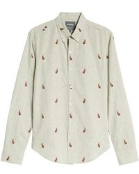 Bonobos - Washed Button Down Slim Fit Rabbit Print Sport Shirt - Lyst