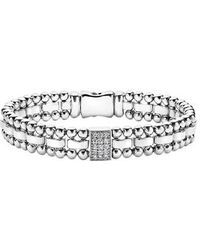 Lagos - Caviar Spark Diamond Rectangle Link Bracelet - Lyst
