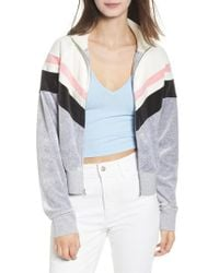 Juicy Couture - Palisade Colorblock Velour Jacket - Lyst
