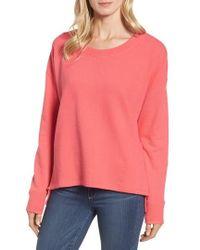 Caslon | Caslon Side Slit Relaxed Sweatshirt | Lyst