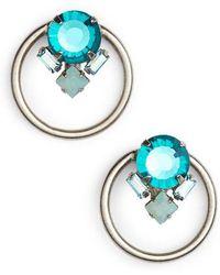 Sorrelli - Peony Crystal Hoop Earrings - Lyst