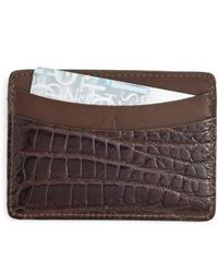 Martin Dingman - 'joseph' Genuine American Alligator Card Case - Lyst