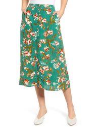 Hinge Floral Midi Skirt