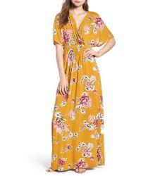 Love, Fire - Kimono Sleeve Maxi Dress - Lyst